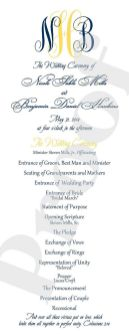 Simple Wedding Reception Program Sample Ideas 28