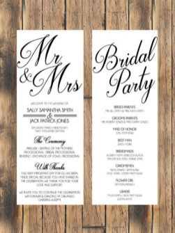 Simple Wedding Reception Program Sample Ideas 29