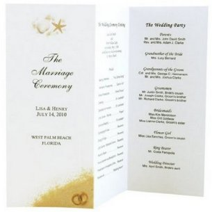 Simple Wedding Reception Program Sample Ideas 3
