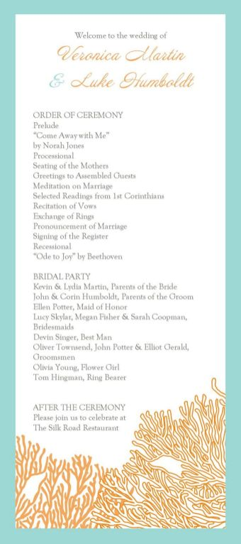 Simple Wedding Reception Program Sample Ideas 31