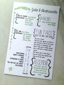 Simple Wedding Reception Program Sample Ideas 33