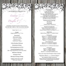 Simple Wedding Reception Program Sample Ideas 35