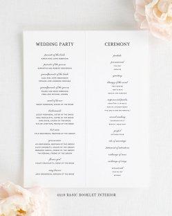 Simple Wedding Reception Program Sample Ideas 5