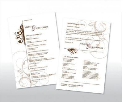 Simple Wedding Reception Program Sample Ideas 6