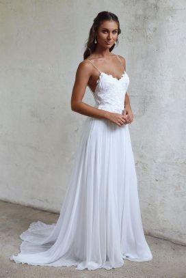 Spaghetti Strap Wedding Day Dresses Gowns ideas 10