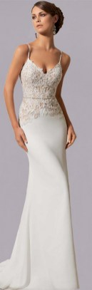 Spaghetti Strap Wedding Day Dresses Gowns ideas 11