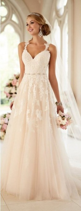 Spaghetti Strap Wedding Day Dresses Gowns ideas 44