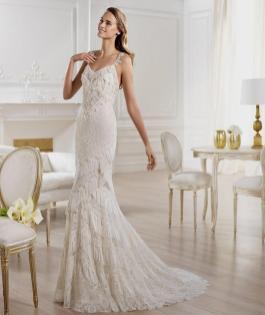 Spaghetti Strap Wedding Day Dresses Gowns ideas 49