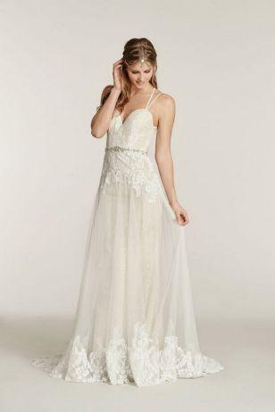 Spaghetti Strap Wedding Day Dresses Gowns ideas 5