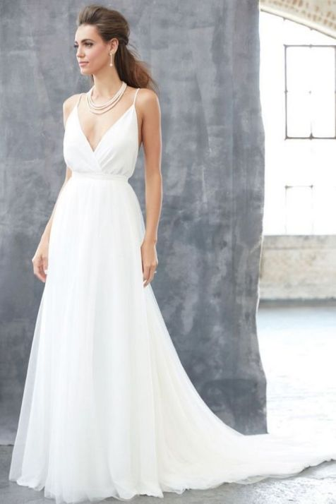 Spaghetti Strap Wedding Day Dresses Gowns ideas 51