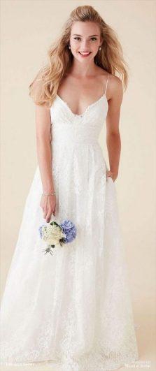 Spaghetti Strap Wedding Day Dresses Gowns ideas 57