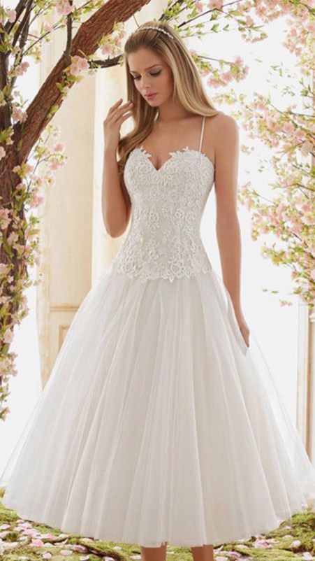 Spaghetti Strap Wedding Day Dresses Gowns ideas 77