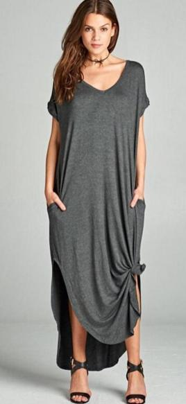 Women Casual Long Maxi Dresses with Pockets ideas 28