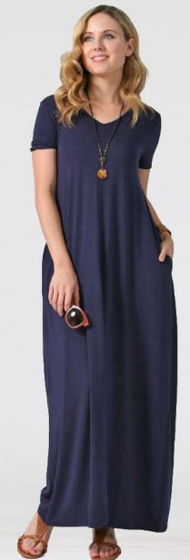 Women Casual Long Maxi Dresses with Pockets ideas 29