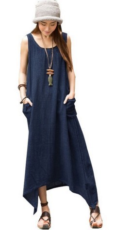Women Casual Long Maxi Dresses with Pockets ideas 3