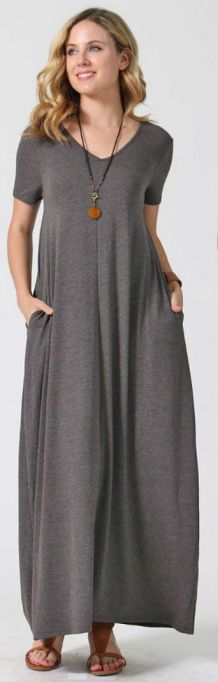 Women Casual Long Maxi Dresses with Pockets ideas 30