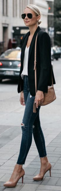 Womens blazer outfit ideas 72