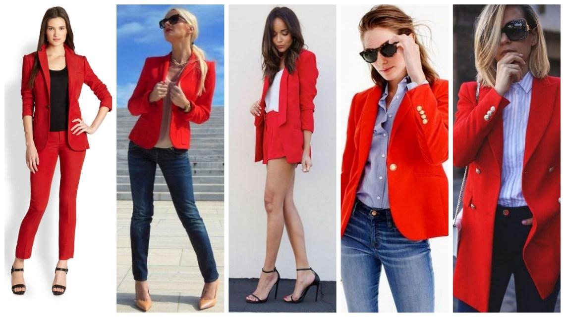 Womens red blazer jackets ideas