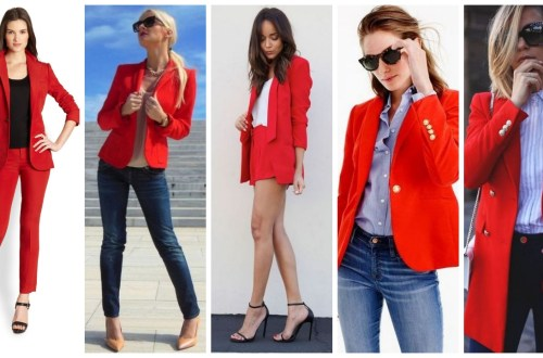 Womens red blazer jackets ideas
