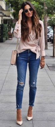 World of jeans cute winter outfits ideas 15