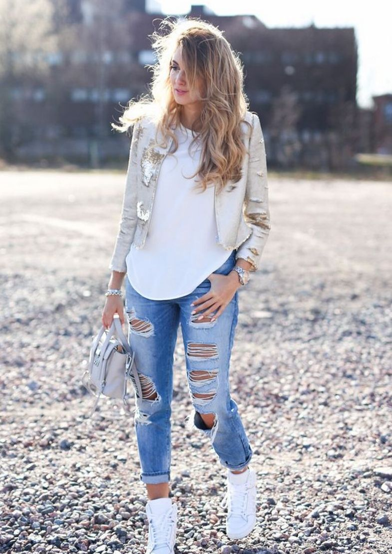 World of jeans cute winter outfits ideas 16