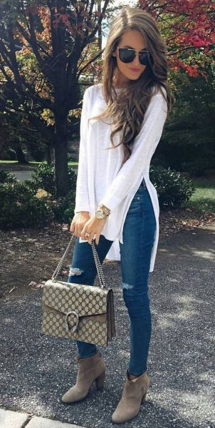 World of jeans cute winter outfits ideas 39