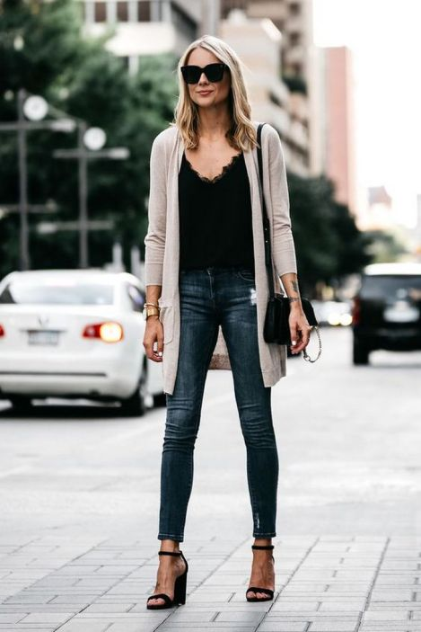 World of jeans cute winter outfits ideas 45