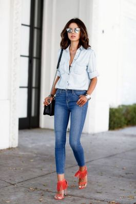 World of jeans cute winter outfits ideas 49