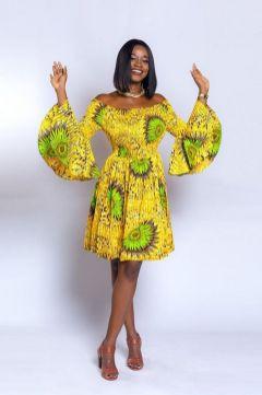 african prints short dresses 44