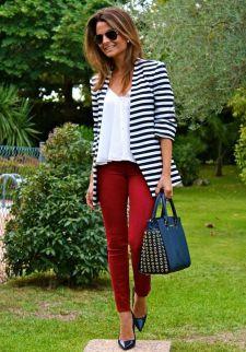 black and white striped blazer womens 10