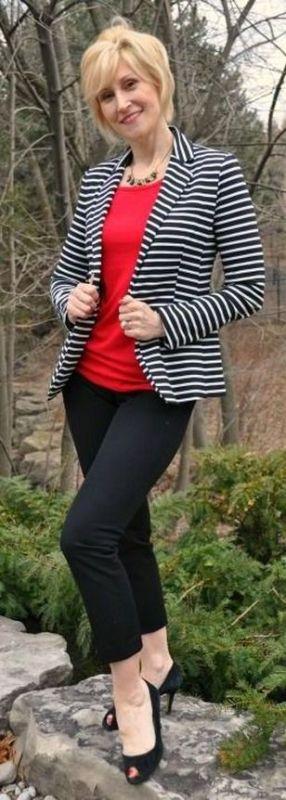 black and white striped blazer womens 25