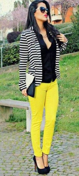 black and white striped blazer womens 28