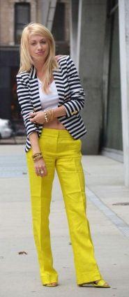 black and white striped blazer womens 32