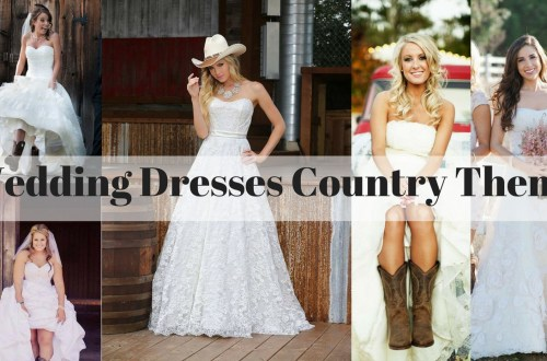 wedding dresses country theme