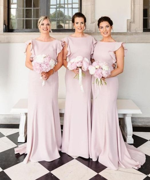 40 Bridesmaid with Mermaid Dresses to Copy Ideas 13
