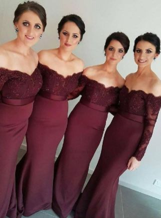 40 Bridesmaid with Mermaid Dresses to Copy Ideas 32
