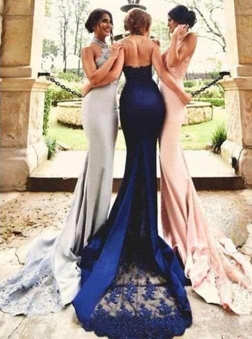40 Bridesmaid with Mermaid Dresses to Copy Ideas 38