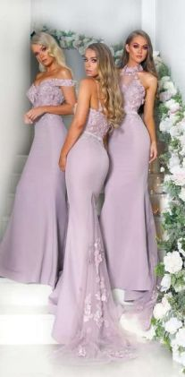 40 Bridesmaid with Mermaid Dresses to Copy Ideas 43