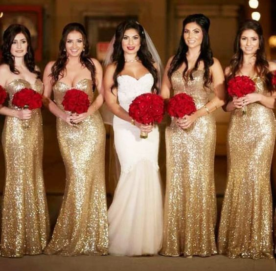 40 Bridesmaid with Mermaid Dresses to Copy Ideas 47