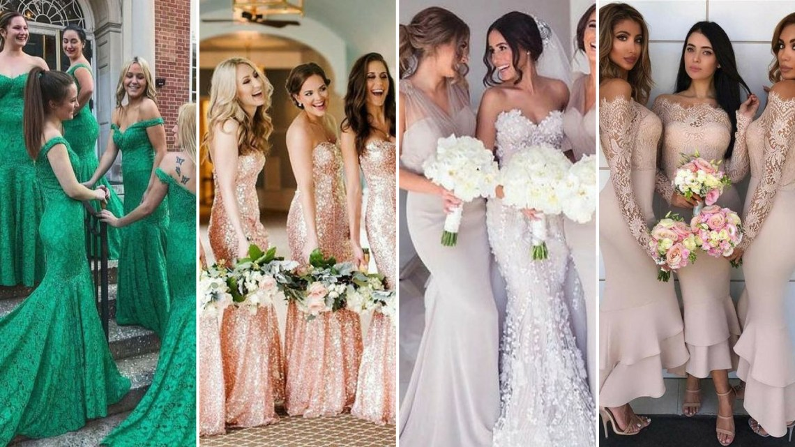 40 Bridesmaid with Mermaid Dresses to Copy Ideas