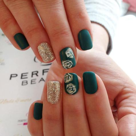 40 Chic Green Nail Art Ideas 25