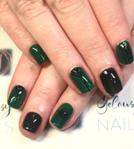 40 Chic Green Nail Art Ideas 40