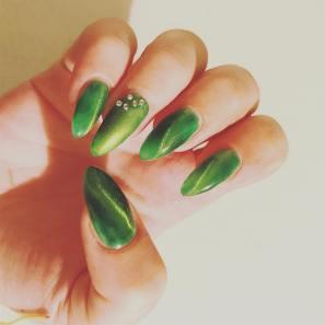 40 Chic Green Nail Art Ideas 41