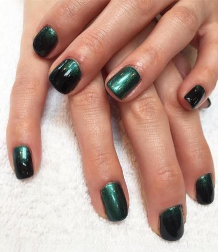 40 Chic Green Nail Art Ideas 8