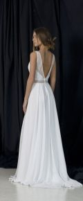 40 Deep V Open Back Wedding Dresses Ideas 10
