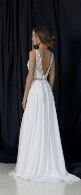 40 Deep V Open Back Wedding Dresses Ideas 10