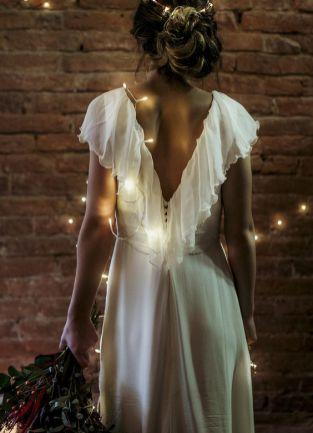 40 Deep V Open Back Wedding Dresses Ideas 12
