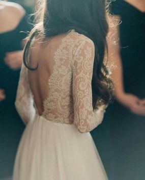 40 Deep V Open Back Wedding Dresses Ideas 15