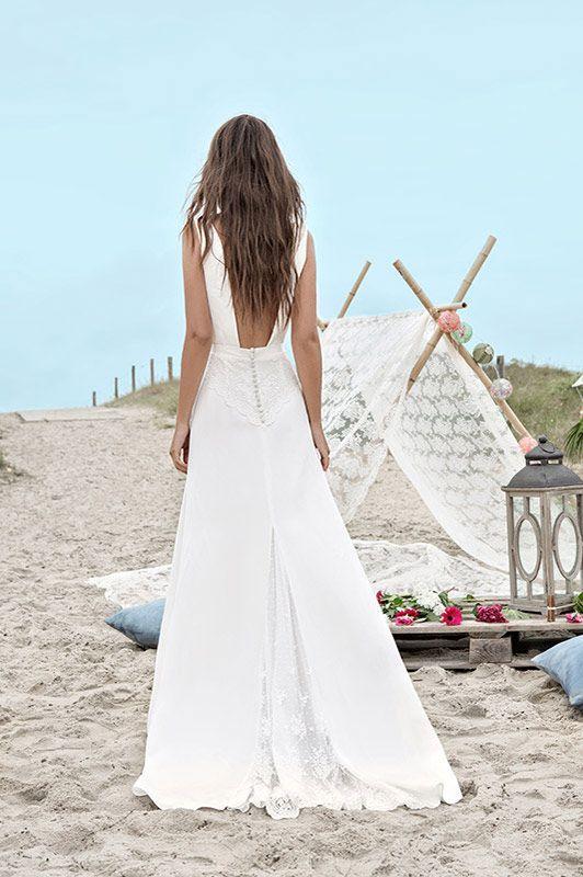 40 Deep V Open Back Wedding Dresses Ideas 17