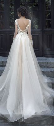 40 Deep V Open Back Wedding Dresses Ideas 20